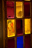Stained glass windows, Meherangarh Fort, Jodhpur, Rajasthan, India
