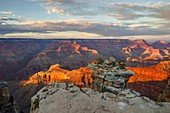 Sunset at Mother Point, Grand Canyon National Park, Tusayan, Arizona, USA