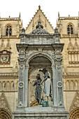 Lyon,rhone-alpes, France. Old Lyon, the baptismal fountain in Place Saint-Jean