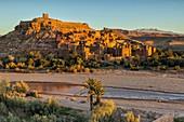 North Africa,Africa,African,Morocco,Drâa-Tafilalet,ouarzazate,Ait-Ben-Haddou. Ait-Ben-Haddou at sunrise