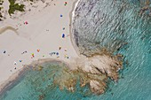 Rena Majore beach in Aglientu, Olbia-Tempio, Sardinia, Italy