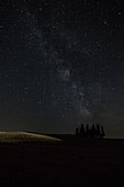 San Quirico d'Orcia milky way, Val d'Orcia, Tuscany, Italy