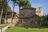 Exterior view of Mausoleum of Galla Placidia. Ravenna, Emilia Romagna, Italy, Europe.