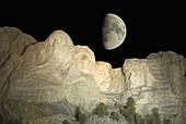Mount Rushmore, Keystone, Black Hills, South Dakota, USA. Digital composite.
