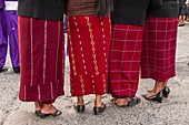 Women in traditional clothing, Chichicastenango, Guatemala