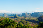 View from above of Viñales Valley, Cuba