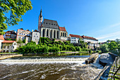 Cesky Krumlov on the Vltava River in South Bohemia, Czech Republic