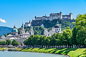 Old town of Salzburg with Hohensalzburg Fortress, Austria