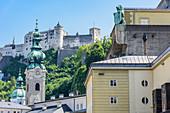 Festspielhaus, Collegiate Church of St. Peter and Hohensalzburg Fortress in Salzburg, Austria