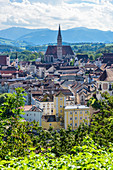 View of the city of Steyr, Upper Austria, Austria