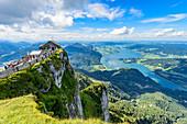 View from Schafberg to the Mondsee in the Salzkammergut, Austria