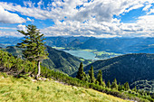 View from the Schafberg to the Woflgangsee in the Salzkammergut, Austria