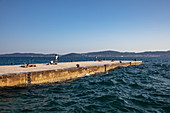 People at the pier, Zadar, Zadar, Croatia, Europe