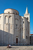 Church of St. Donatus and bell tower of the Zadar Cathedral, Zadar, Zadar, Croatia, Europe