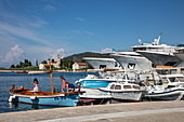 Fishing boats and boutique cruise ships, Vis, Vis, Split-Dalmatia, Croatia, Europe
