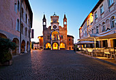 The medieval town hall of Pordenone in the Friuli Venezia Giulia Region is the symbol of the city. Italy