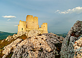 The Rocca Calascio castle,  famous place in Abruzzo region and location for many movie. Italy