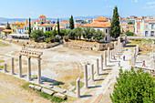 Roman Agora, elevated view, Athens, Greece, Europe,