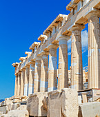 Parthenon temple on the Acropolis of Athens, Athens, Greece, Europe,