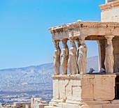 Porch of Caryatids, Erechtheion Temple, Acropolis, Athens, Greece