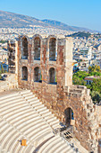 Odeon of Herodes Atticus at South Slope of Acropolis, Athens, Greece, Europe,