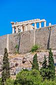 Parthenon, low angle view, Acropolis, Athens, Greece