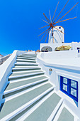 Traditional windmill, Oia, Santorini, Cyclades Islands, Greece