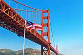 View of Golden Gate Bridge, San Francisco, California, USA