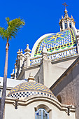 St Francis Chapel domes over the Museum of Man, Balboa Park, San Diego, California, USA
