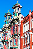 Buildings on 5th Avenue, Gaslamp quarter, San Diego, California, United States of America,