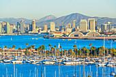 City skyline from Point Loma, San Diego, California, USA