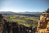 Spanish idyllic landscape near Malaga, Spain