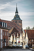 View of the St. Michaelis Church in Lueneburg, Germany