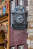 Old clock at the Ratsapotheke in Lueneburg, Germany