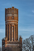 View of the water tower in Lueneburg, Germany