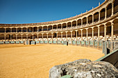 Inside the bullring in Antequera, Spain