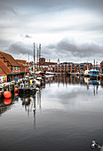 View of the old port of Wismar, Germany