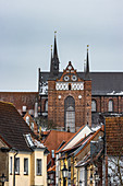 View of the St. Georgen Church in Wismar, Germany