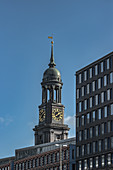 View of the main church Sankt Michaelis in Hamburg, Germany