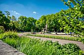 Old botanical garden; Lenbachplatz Munich; 1804 to 1812; Friedrich Ludwig von Sckell;