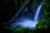 Tiny waterfall in the Bavarian Forest, Bavaria, Germany, Europe