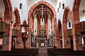 Innenansicht der Stiftskirche, Wertheim, Spessart-Mainland, Franken, Baden-Württemberg, Deutschland, Europa