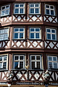 Half-timbered house in the old town, Wertheim, Spessart-Mainland, Franconia, Baden-Wuerttemberg, Germany, Europe