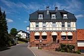 Landgasthof Hirschen, Eschau Wildenstein, Räuberland, Spessart-Mainland, Franken, Bayern, Deutschland, Europa