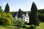 Moated castle Oberaulenbach, near Eschau Unteraulenbach, Räuberland, Spessart-Mainland, Franconia, Bavaria, Germany, Europe