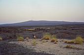 Ethiopia; Afar region; Danakil Desert; Danakil Depression; smoking volcano Erta Ale; taken from the Erta Ale Camp