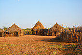 Ethiopia; Southern Nations Region; typical hamlet near Turmi