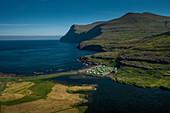 The Eidi campsite on Eysturoy is a former football field in the Faroe Islands