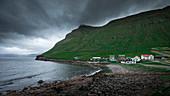 Bay in the village of Elduvík on Eysturoy, Faroe Islands