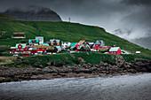 Colorful houses in the village of Elduvík on Eysturoy, Faroe Islands